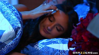 Hot Eliza Ibarra adores doggy style after a blowjob on the bed
