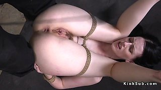 Slave anal fucked and cunt vibed