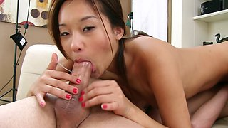 Alina Li and Holly Michaels are sucking together