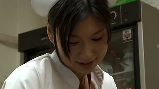 Japanese Nurse getting fucked by her patient