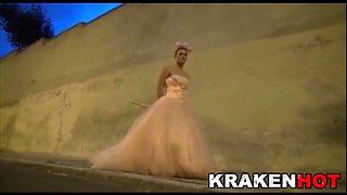 krakenhot - crazy bride, submissive in the street!!!