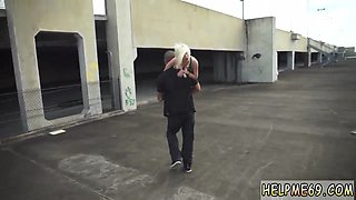 This slender blonde whore is getting that hulking cock between her legs