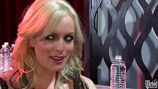 Dark mistress Lily Paige gives hot blowjob in 69 position