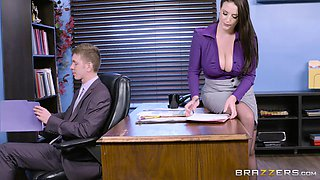 Angela White spreads her legs for a great office shag