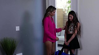 Lesbian babe seducing her hot lawyer
