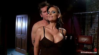 yhot mistress has a great time with her slave