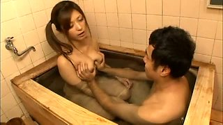 Big Titted Teen Gets Wet With An Older Man In The Bathroom