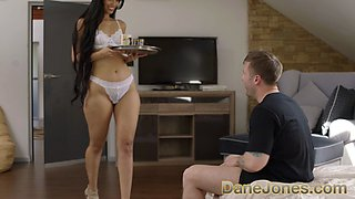 Dane Jones Big butt Latina Adreina Deluxe rides dick cowgirl and doggy