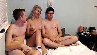Two young couples explore their sexual urges on the webcam