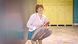 Penny Pax is a redhead teacher who just loves when her glasses are sticky