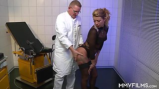 Bonnie Parker in German hottie Bonnie Parker gets fucked by her doctor - MMVFilms