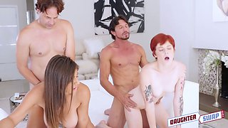 Ella Knox and her kinky girlfriend arrange dirty foursome sex