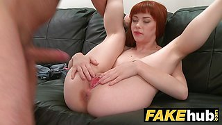 Fake Agent Creampie for hot Redhead American model