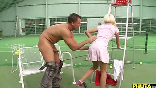 Naughty blonde babe Lena Cova loves getting her asshole pounded