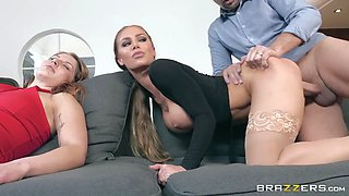 nicole aniston doggystyled by keiran next to his sleeping wife