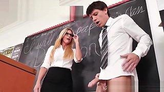 Shocked Schoolboy Gets His Cock Sucked & Fucked By Hot Milf Teacher