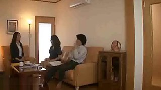 Beautiful Japanese wife fucked by all family