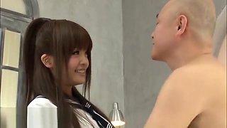 Japanese 18yo schoolgirl trying to deepthroat