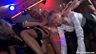Awesome party with male strippers turns into a hot orgy party