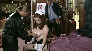 Busty dark haired bitch gets drilled hard by her dude