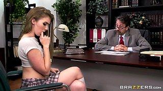 seductive school girl makes up for her naughty behaviour