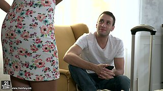 Zealous lady called Tina Kay is addicted to cum and cannot stop giving BJ