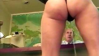 Secretary Spanked wetting