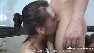 Girlfriends get drunk and roughly fucked