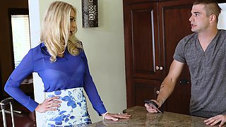 FamilyStrokes- Hot Step Mom Fucks Son Under The Covers