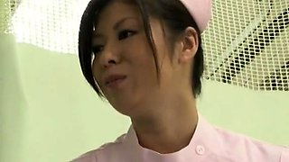 Naughty Asian nurse finds it hard to resist a thick cock