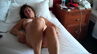 Lustful mature housewife gets naked and enjoys a hard dick