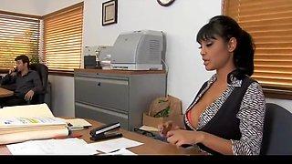 Sexy secretary gets bonus