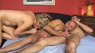 foursome bisexual action blowjob hard 3