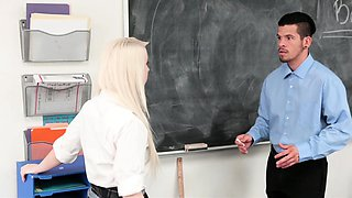 InnocentHigh - Teen School Girl Fucks Her Teacher