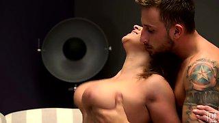 Busty babe Josephine Jackson enjoys a blindfolded seduction