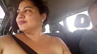 part 1- mary, exhibitionism in car, on public street