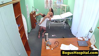 Euro babe pussylicked during drs examination