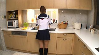 Lovely Teen In School Uniform Cumshot Facial