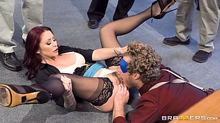 Monique Alexander spreads her legs for a blindfolded fellow