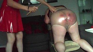 Mistress beats her slave