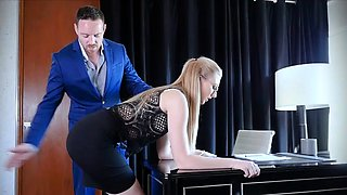 Boss Give Punishment To Trained Slut Secretary