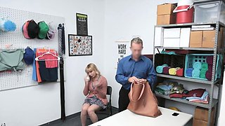 MILF thieve enjoys the hard punishment at the office