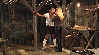 Slaves Homecoming: Lesbian Maid Inspects Her Young Body