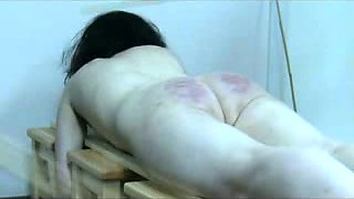 Extreme caning big white ass of my submissive wife