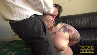Chubby chick Lily Brutal can't refuse his long stiff shaft