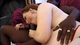 Pregnant woman takes an anal creampie