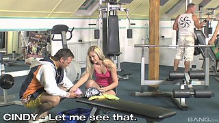 Cindy White and her hot friend get to please two guys at once