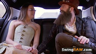 Jess and john make an unusual arrival at the swing house