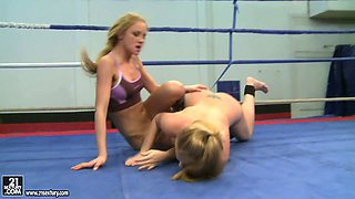 Furious fighters Katalin and Lily Love showing their regular training session