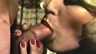 Two naughty sluts share one man for FFM threesome on the floor
